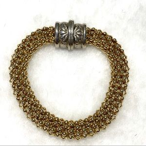 Jewelry - Gold Tone Rope Style Bracelet-Magnetic Closure